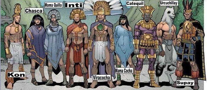 dioses de la mitología inca